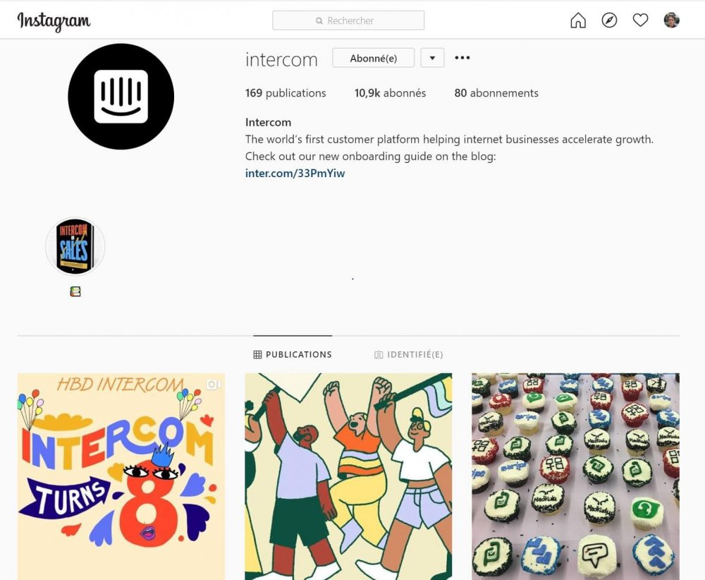 Intercom Instagram