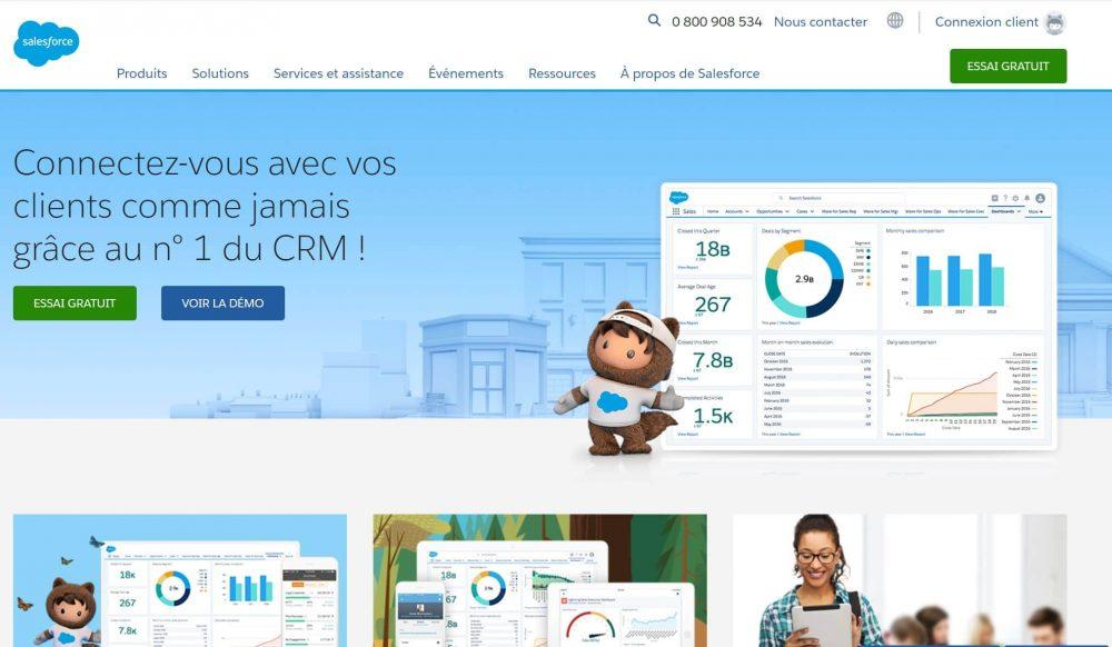 Salesforce CRM grandes entreprises