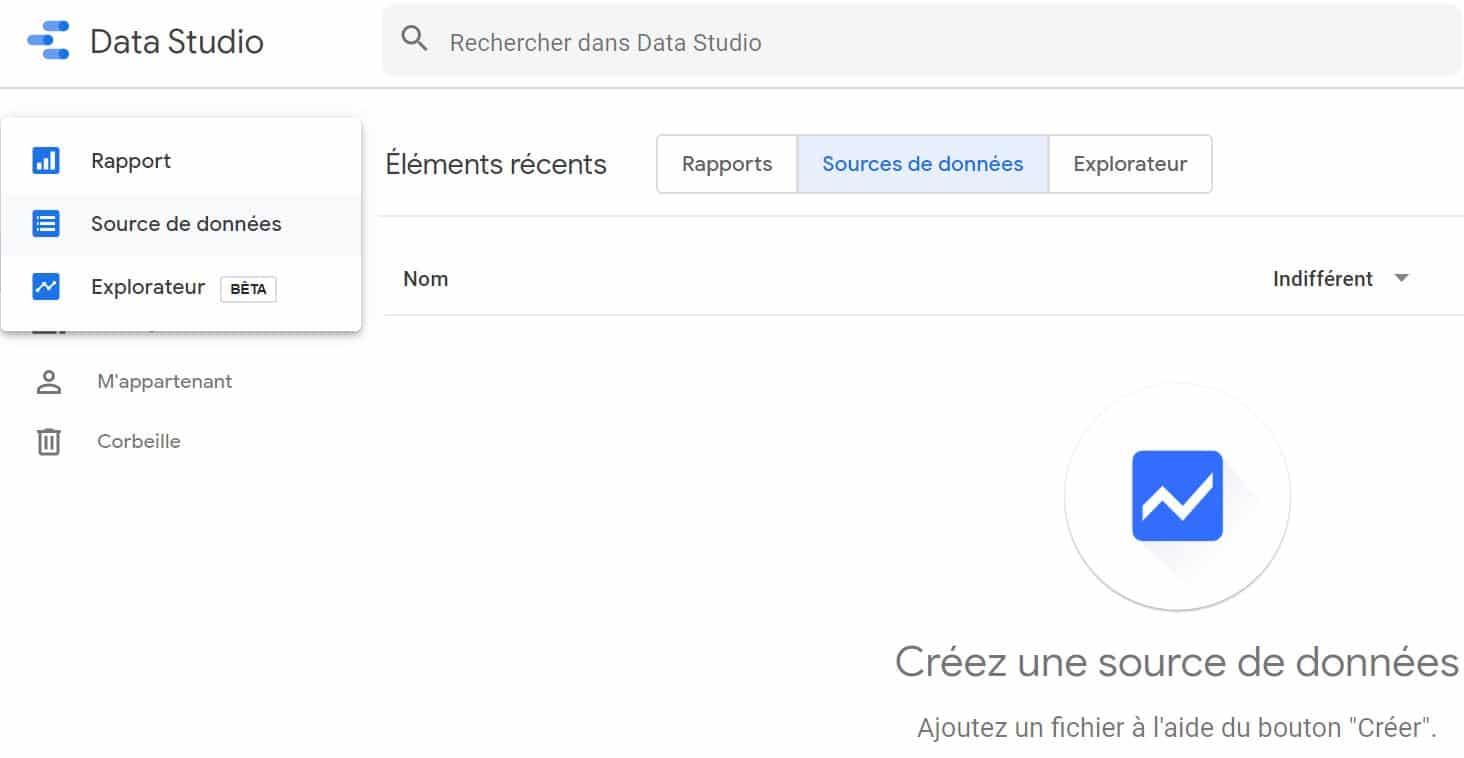 Google Data studio creation