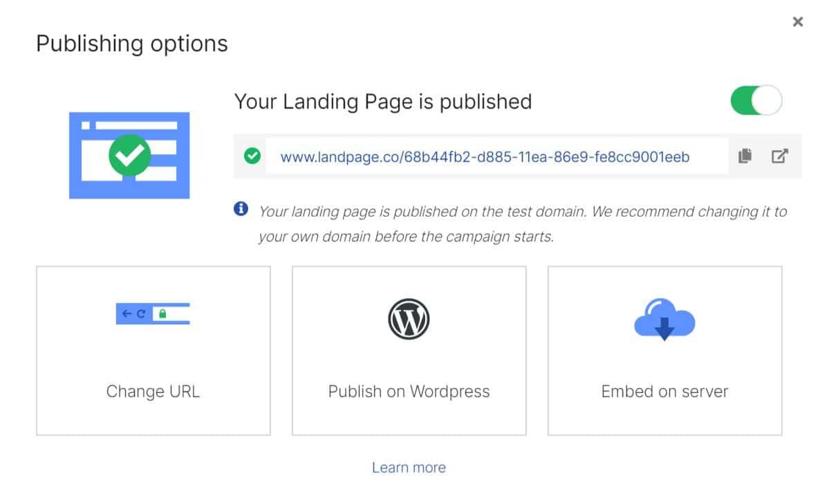 Wordpress landingi landing page