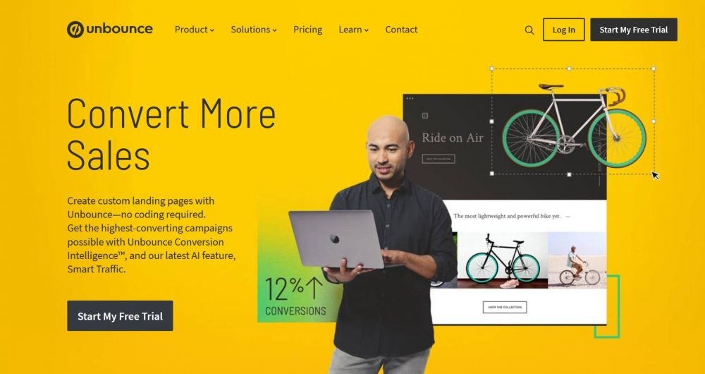 unbounce outil landing page