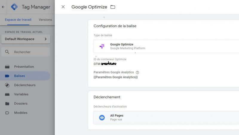 Google Tag Manager Google Optimize