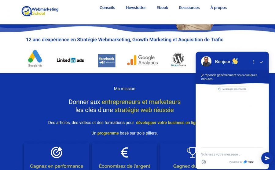Chat sur Webmarketing School